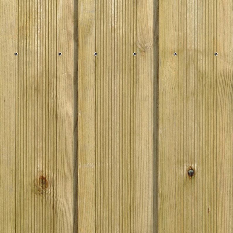Planche Bois Pin Vert L240 X L145 Cm X Ep27 Mm