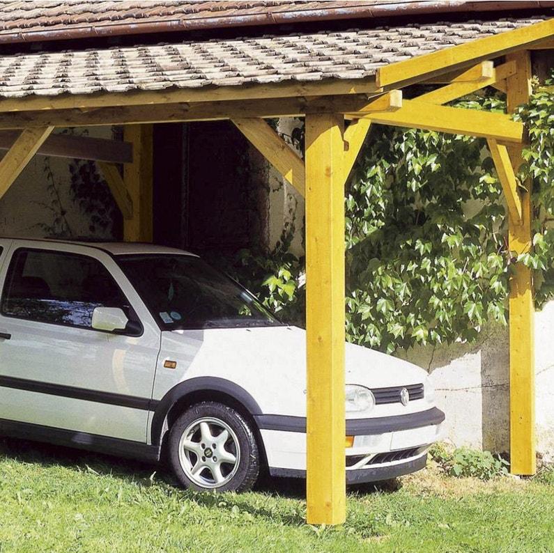 Carport Bois Vanoise 1 Voiture 15 33 M