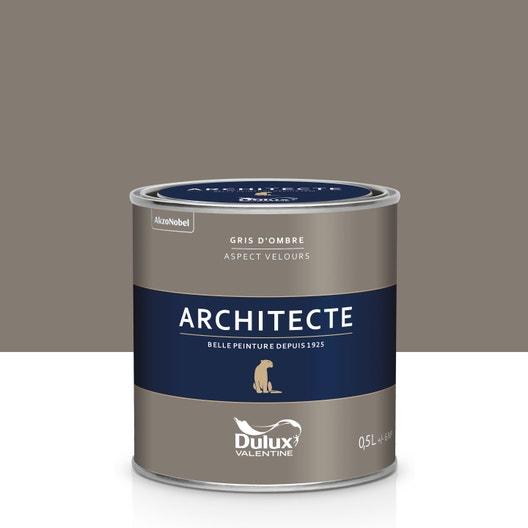 Peinture gris ombre velours DULUX VALENTINE Architecte 0.5 ...