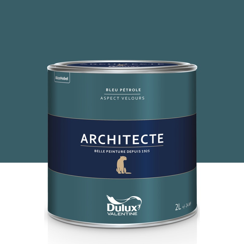 Peinture Bleu Pétrole Velours Dulux Valentine Architecte 2 L