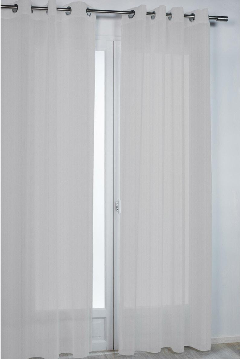 Comment Installer Rideau Et Voilage voilage tamisant, paradise gris l.140 x h.260 cm