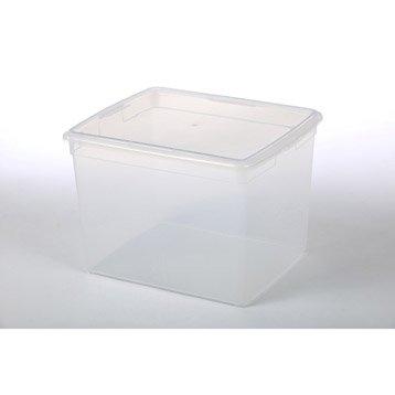Boîte Modular clear box plastique , l.34 x P.39.5 x H.30.5 cm