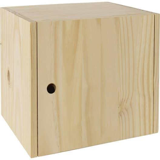 bloc tiroir solo pin x x cm leroy merlin. Black Bedroom Furniture Sets. Home Design Ideas