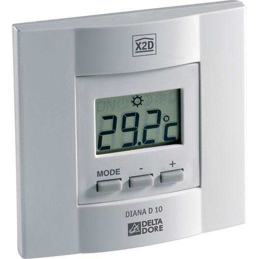 thermostat manuel filaire delta dore diana 10 leroy merlin. Black Bedroom Furniture Sets. Home Design Ideas
