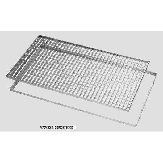 cadre pour grille caillebotis galvanis 80x50 mm mea leroy merlin. Black Bedroom Furniture Sets. Home Design Ideas