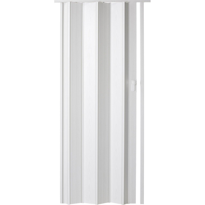 porte extensible ibiza fr ne blanc 205 x 85 cm pais d 39 une lame 10 mm leroy merlin. Black Bedroom Furniture Sets. Home Design Ideas
