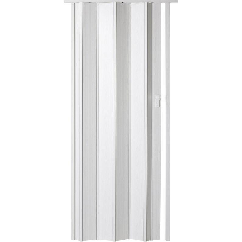 Porte Extensible Ibiza Frêne Blanc 205 X 85 Cm épais Dune Lame 10 Mm