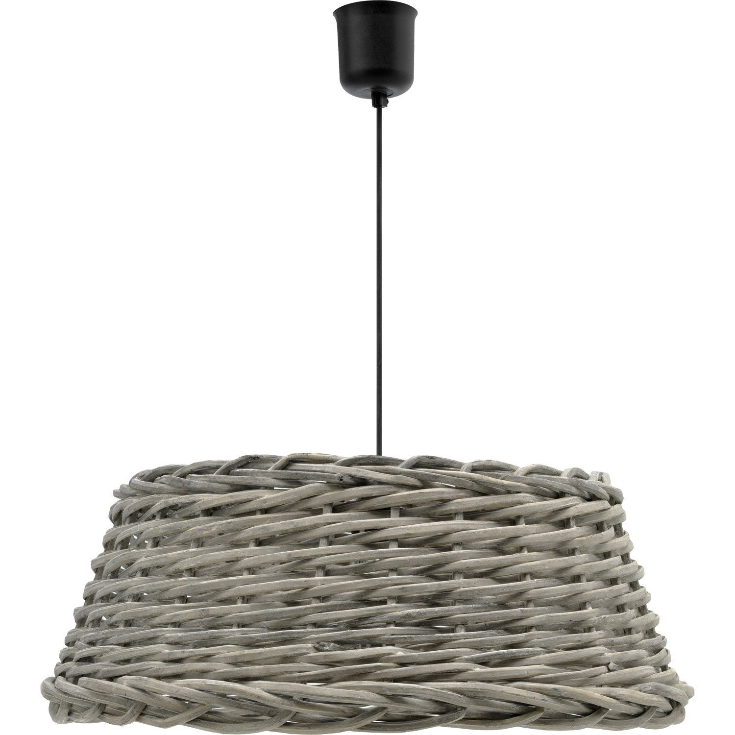 Suspension e27 campagne gordes saule naturel 1 x 52 w for Suspension osier design