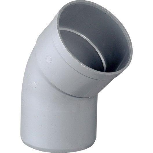 Coude m le femelle 45 pvc mm girpi leroy merlin - Diametre tuyau evacuation eaux usees ...