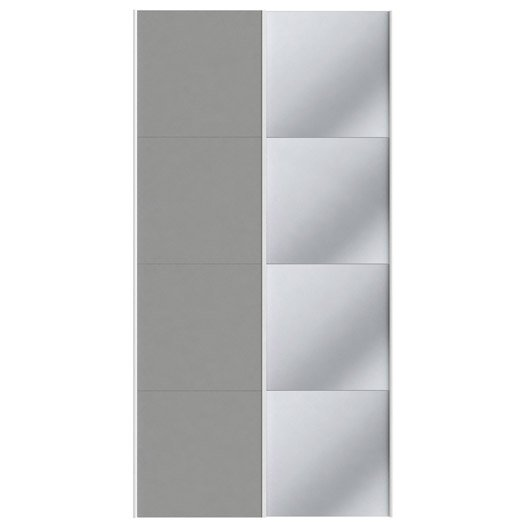 Lot de 2 portes coulissantes spaceo home 240 x 120 x 15 cm for Porte coulissante 240 cm hauteur
