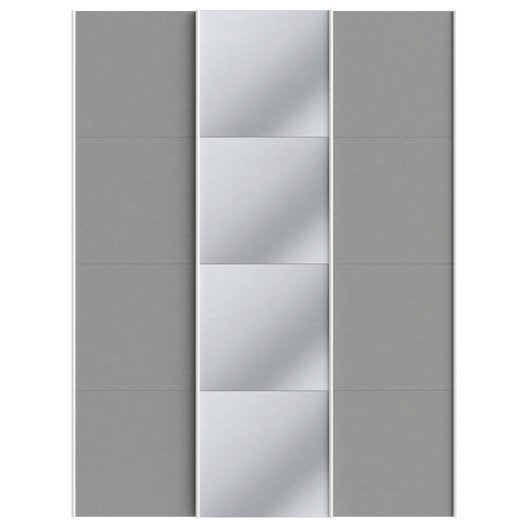 Lot de 3 portes coulissantes spaceo home 240 x 180 x 15 cm anthracite lero - Porte coulissante 240 ...
