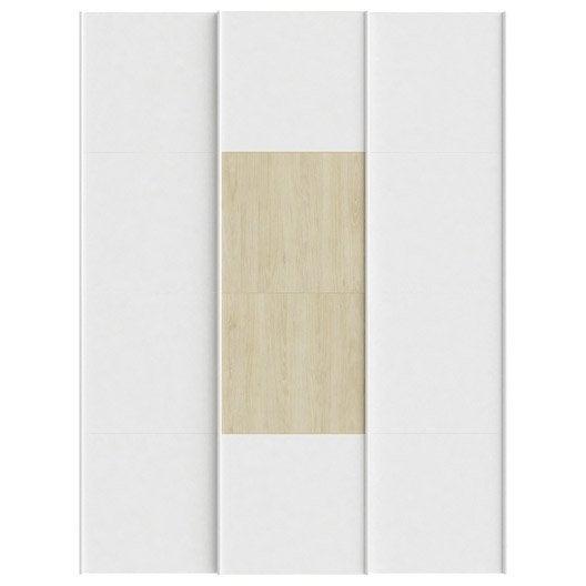 Lot de 3 portes coulissantes spaceo home 240 x 180 x 15 cm blanc leroy merlin - Porte coulissante 240 ...
