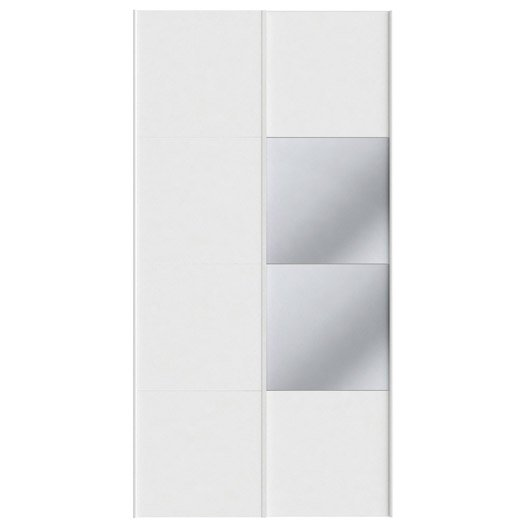 Lot De 2 Portes Coulissantes Spaceo Home 240 X 120 X 15 Cm
