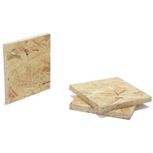 Panneau osb 3 3 plis épicéa naturel, Ep.15 mm x L.250 x l.125 cm