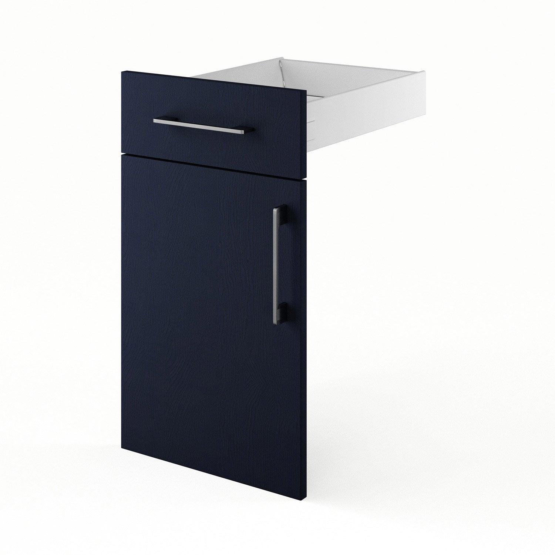 Porte et tiroir de cuisine bleu topaze x x cm leroy merlin - Tiroir cuisine 30 cm ...