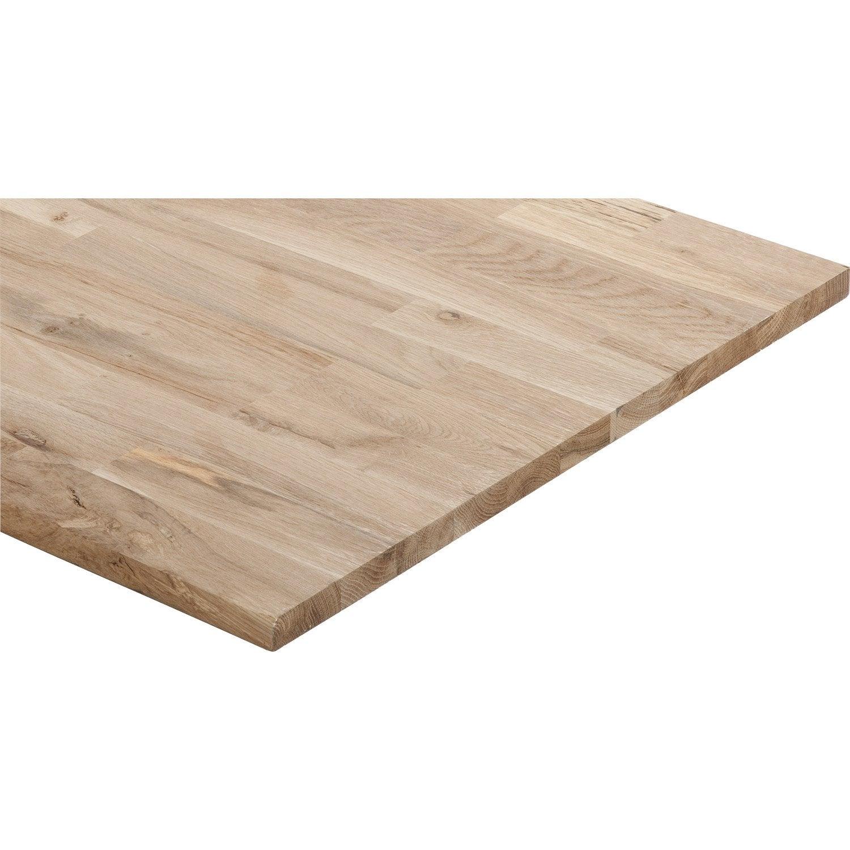 tablette ch ne lamell coll x cm x mm. Black Bedroom Furniture Sets. Home Design Ideas