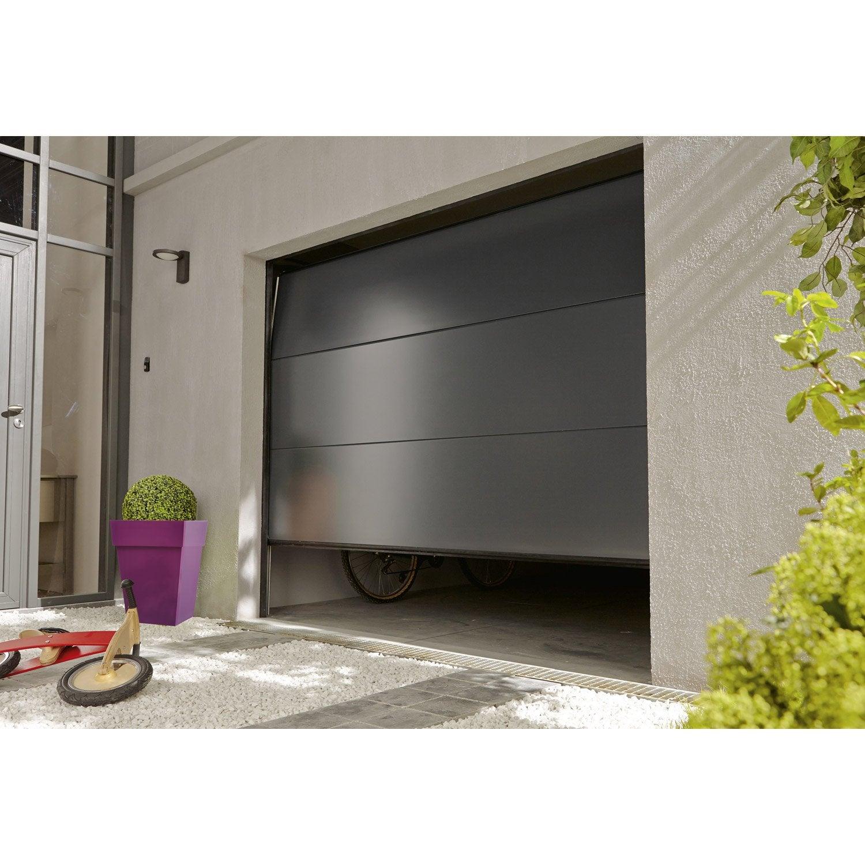 Porte De Garage Sectionnelle Motorisée Artens Essentiel H200 X L