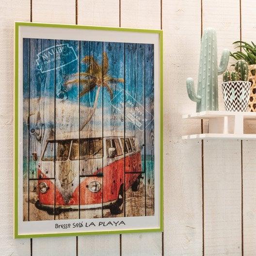 cadre bistyle 40 x 50 cm vert leroy merlin. Black Bedroom Furniture Sets. Home Design Ideas