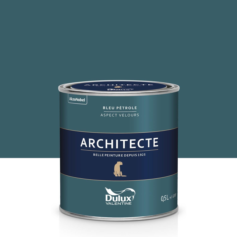 peinture bleu p trole velours dulux valentine architecte 0. Black Bedroom Furniture Sets. Home Design Ideas