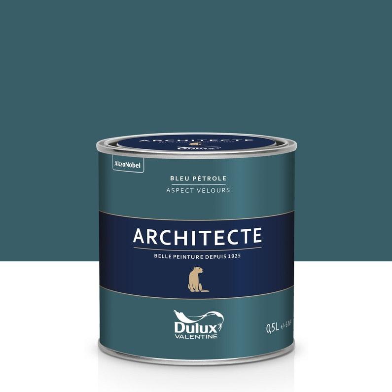 Peinture Bleu Pétrole Velours Dulux Valentine Architecte 05 L