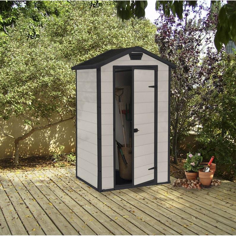 abri de jardin résine lineus 098 m² ep16 mm  leroy merlin