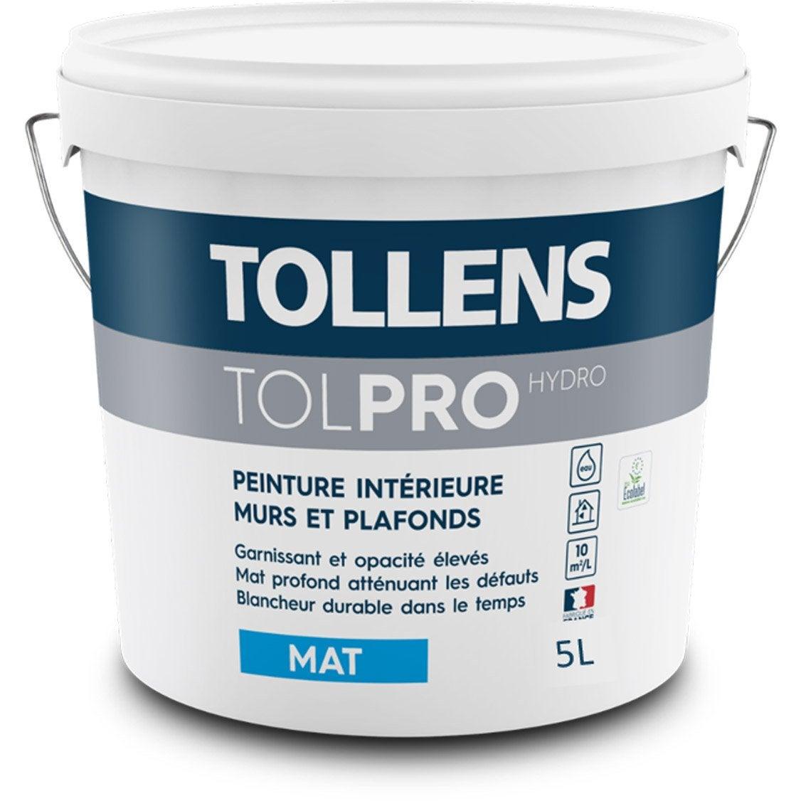 Peinture TOLLENS, mur et plafond Tolpro hydro, blanc, mat ...