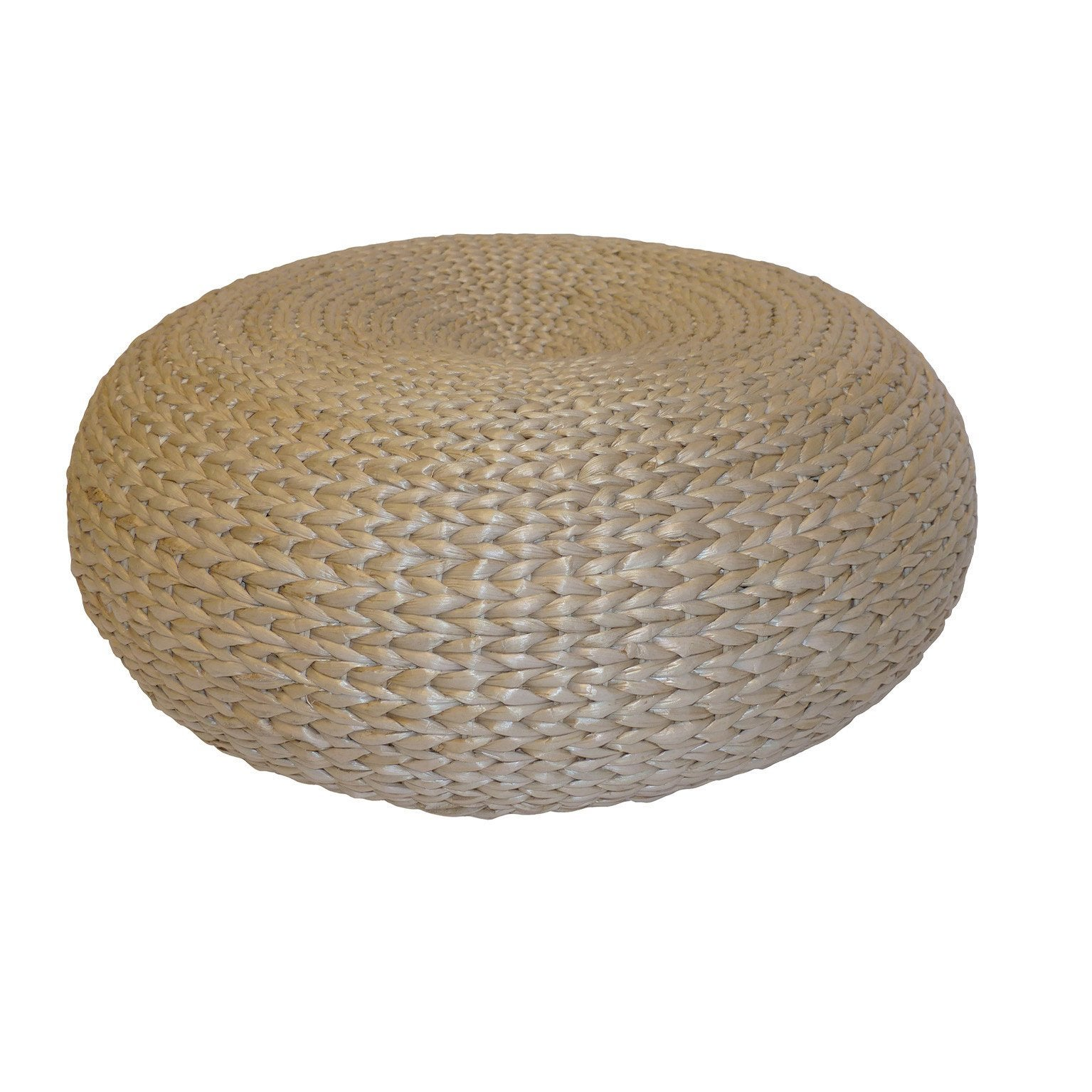 Pouf Tressage, naturel l.50 x H.15 cm