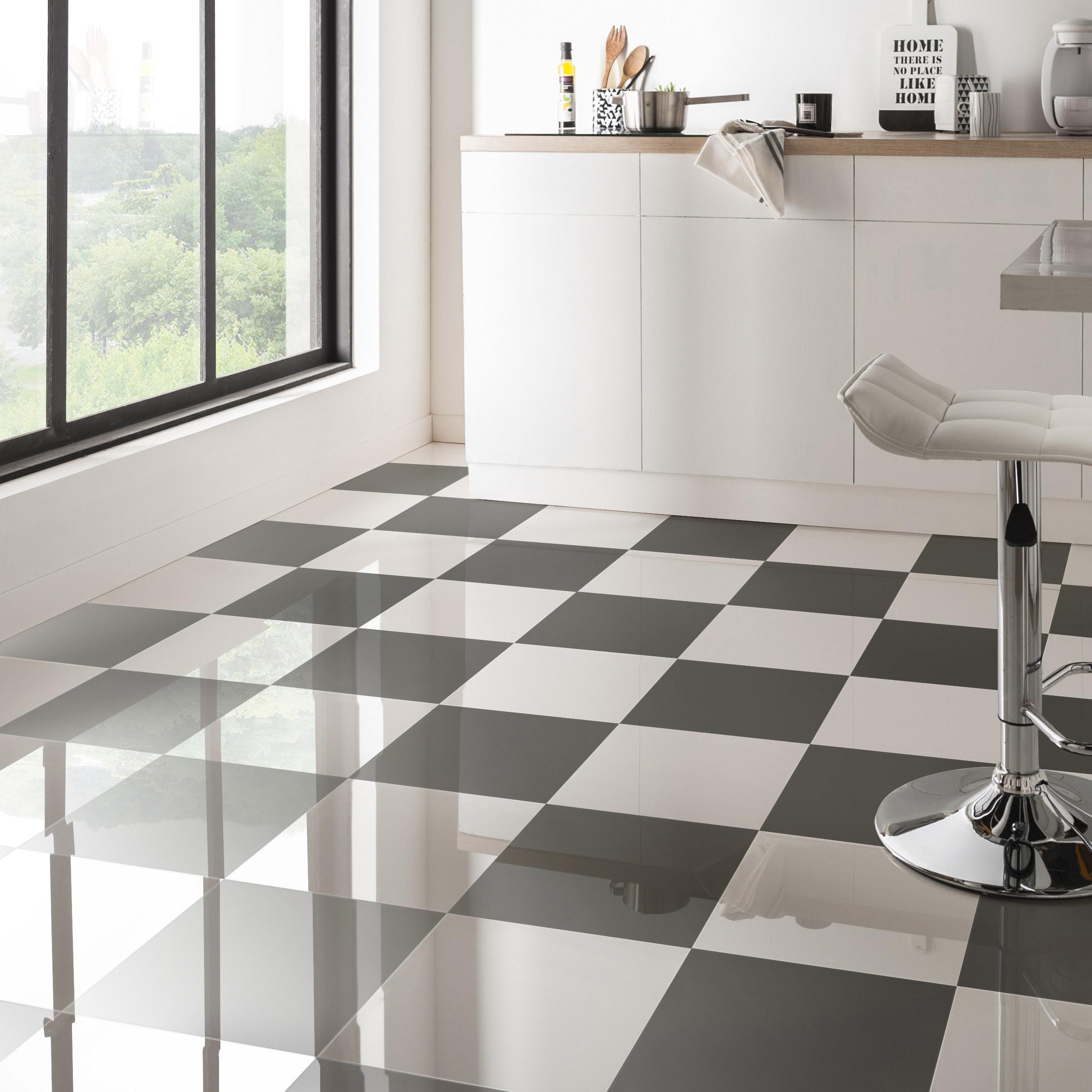 Carrelage Sol Et Mur Intenso Brillant Blanc L.30 X L.30 Cm ARTENS