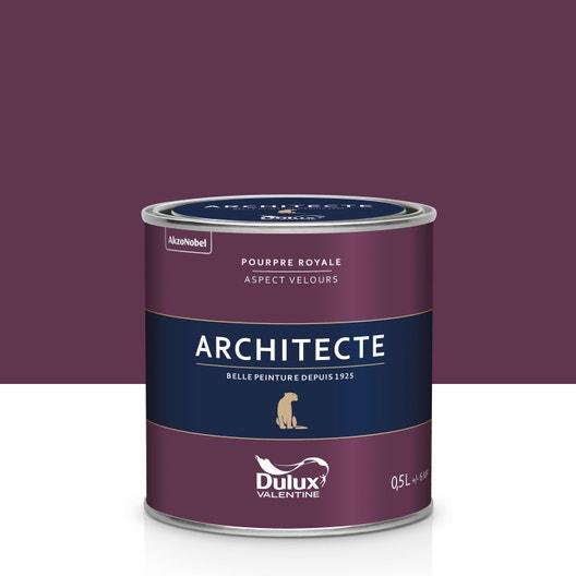 Peinture pourpre royale velours DULUX VALENTINE Architecte ...