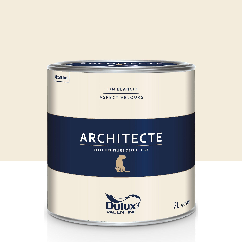 Peinture lin blanchi velours DULUX VALENTINE Architecte 2 ...