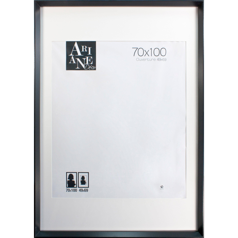 Cadre Milano, noir, 70 x 100 cm
