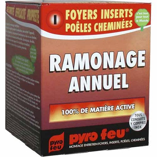 ramonage annuel bois pyrofeu 3 x 250 g leroy merlin. Black Bedroom Furniture Sets. Home Design Ideas