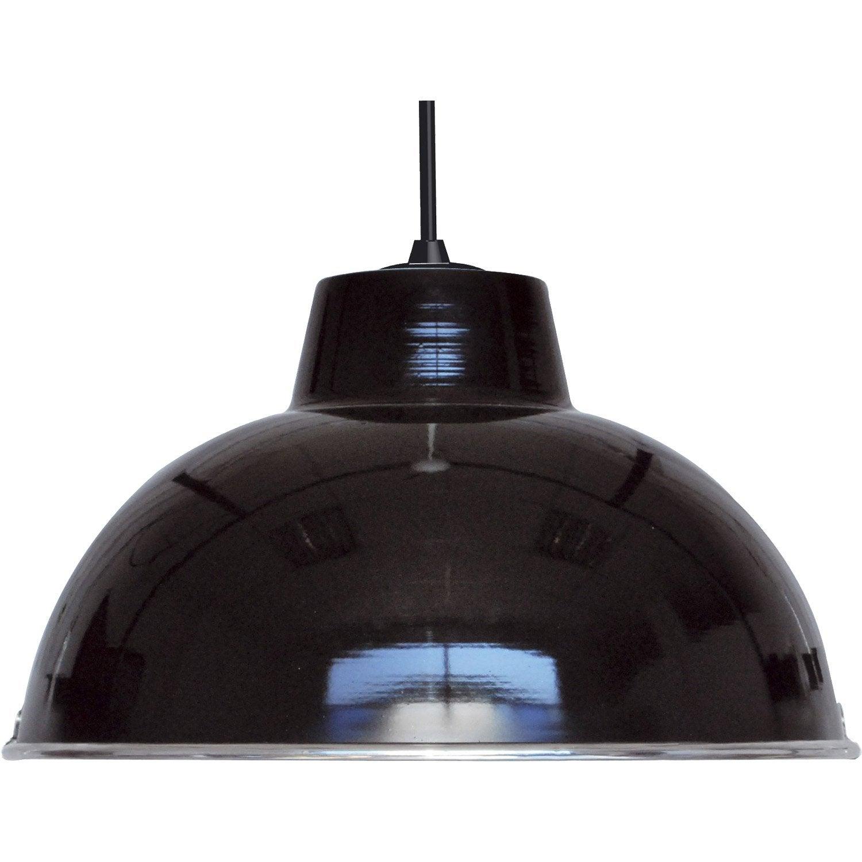 suspension e27 style industriel mars m tal noir 1 x 60 w boudet leroy merlin. Black Bedroom Furniture Sets. Home Design Ideas