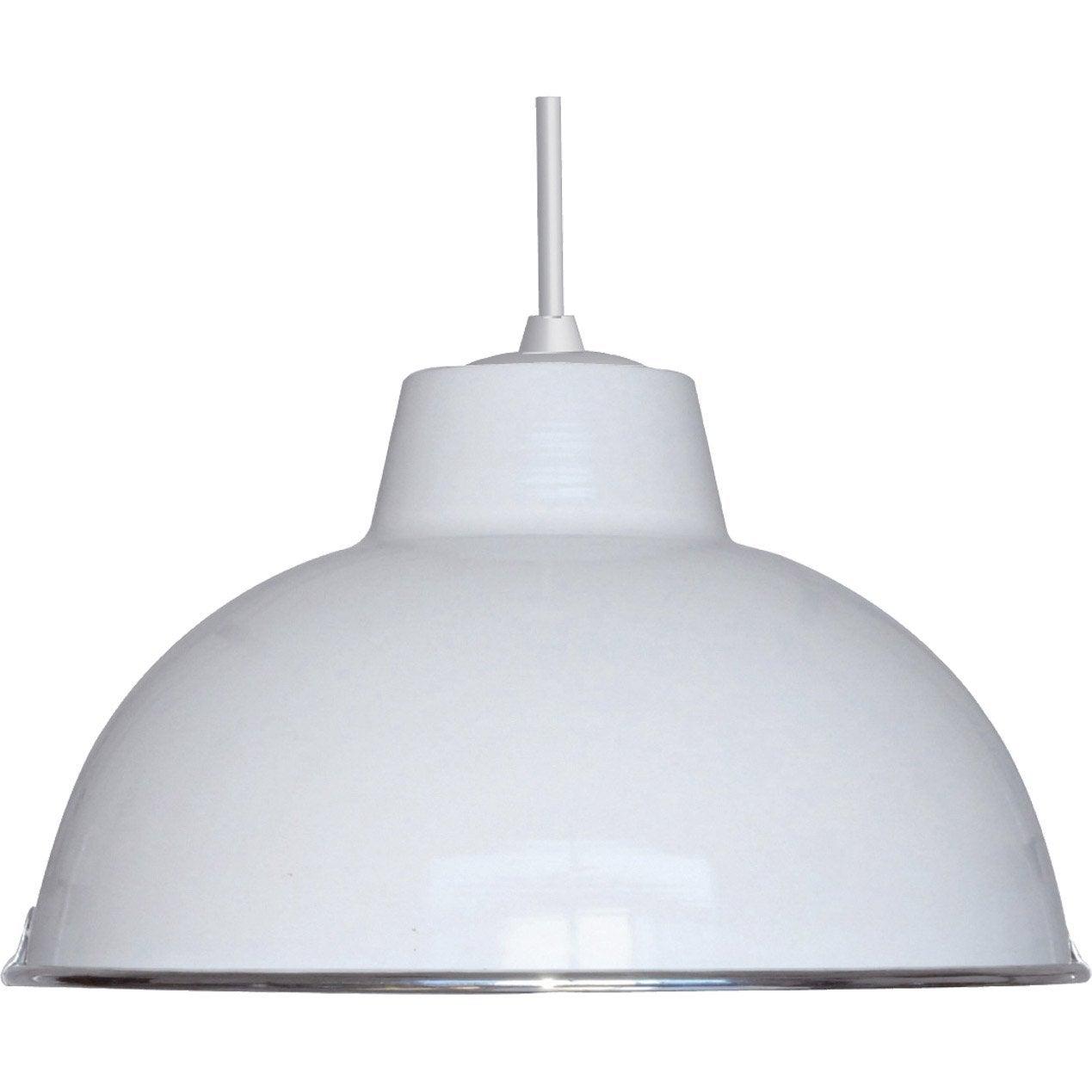 suspension e27 style industriel mars m tal blanc 1 x 60 w. Black Bedroom Furniture Sets. Home Design Ideas