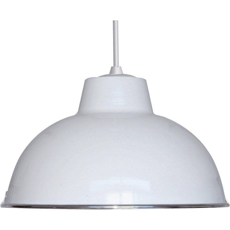 Suspension E27 Style Industriel Mars Metal Blanc 1 X 60 W Boudet