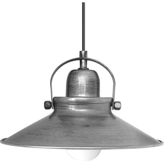 Suspension industriel mirano m tal gris 1 x 40 w seynave leroy merlin - Suspension type industriel ...