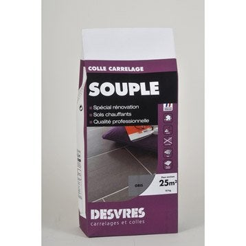 Joint poudre tout type de carrelage et mosaïque DESVRES, gris, 10 kg