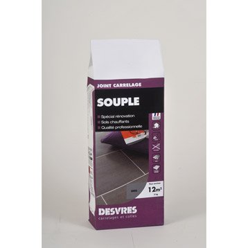 Joint poudre tout type de carrelage et mosaïque DESVRES, gris argent, 5 kg
