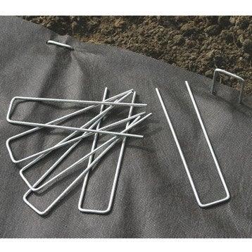 Lot de 10 agrafes métalliques NORTENE, 0 g/m², 0,17x0,035 m