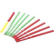 Lot de crayons noir, jaune et rouge DEXTER