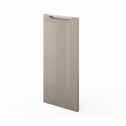 Porte pour angle de cuisine taupe milano x cm for Porte 70 cm de large