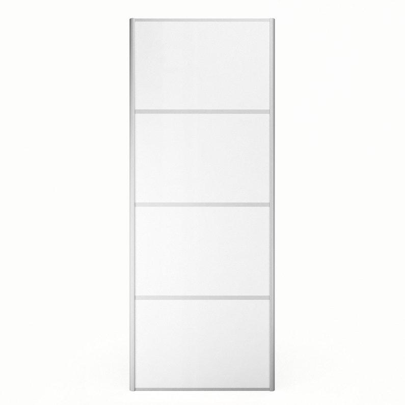 Porte De Placard Coulissante A Composer Decor Blanc Mat Spaceo Leroy Merlin