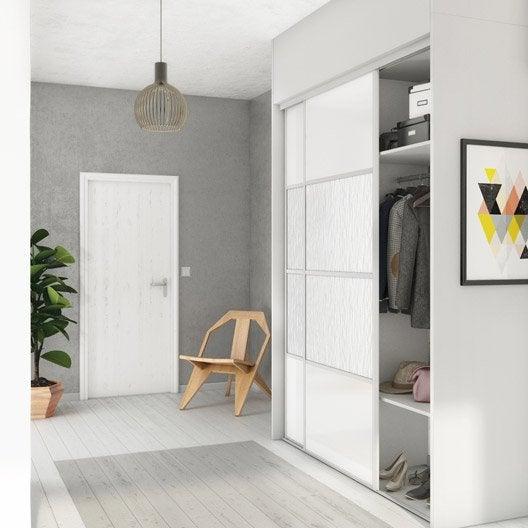 porte de placard coulissante à composer spaceo à peindre/gougé