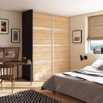 Porte de placard coulissante à composer Décor bambou SPACEO H.250 x l.98.16 cm