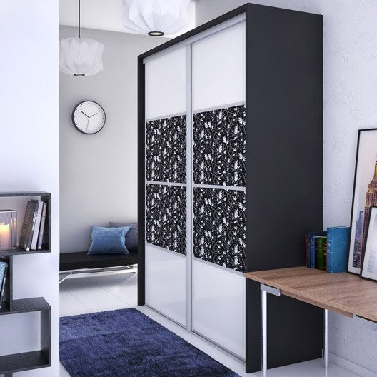 porte de placard composer personnalisable et recoupable au meilleur prix leroy merlin. Black Bedroom Furniture Sets. Home Design Ideas