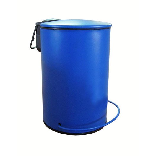 Poubelle de salle de bains 3 l bleu bleu 2 sensea ic ne - Poubelle de salle de bain en bois ...