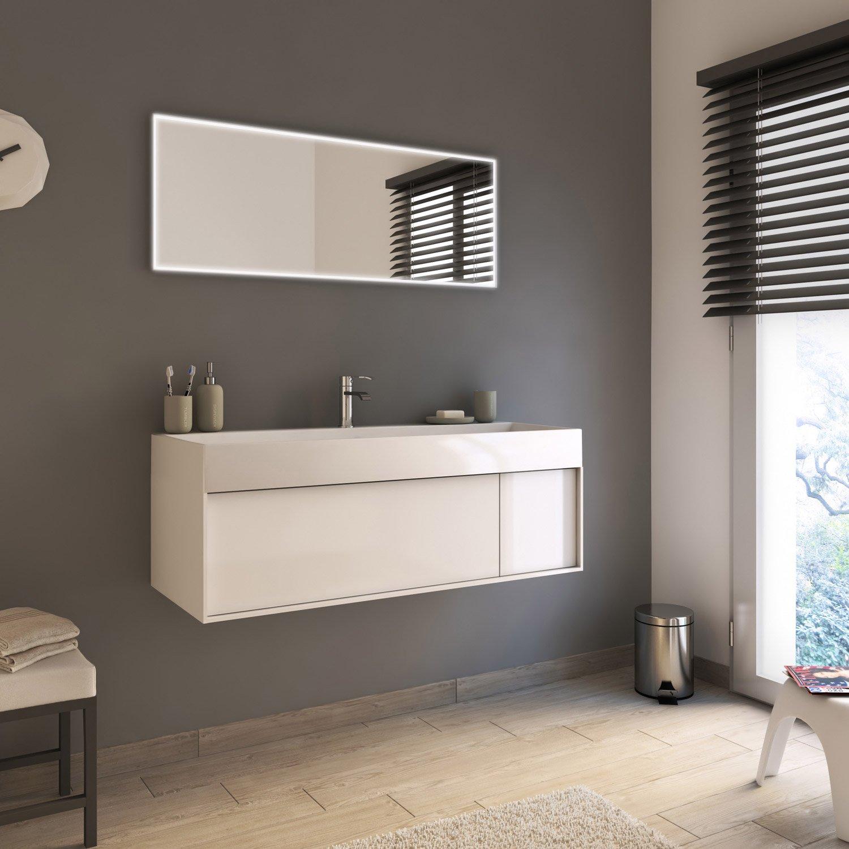 Meuble de salle de bains plus de 120, blanc, Neo frame | Leroy Merlin