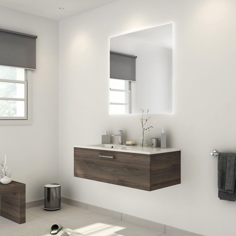 meuble salle de bain leroy merlin marron
