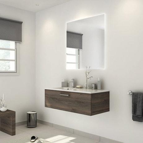 Meuble salle de bain meuble sous vasque colonne miroir for Colonne salle de bain miroir leroy merlin