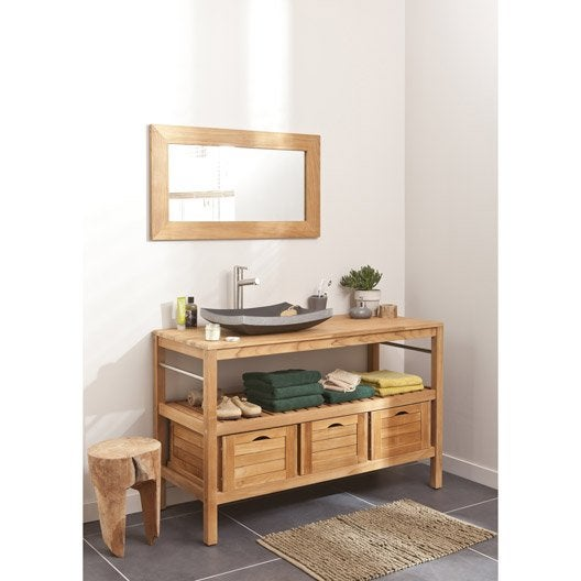 meuble de salle de bains plus de 120 brun marron surabaya iv leroy merlin. Black Bedroom Furniture Sets. Home Design Ideas
